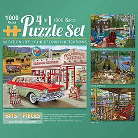 Bigelow Illustrations 1000 Piece 4-in-1 Multi-Pack Set