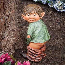 Surprised Garden Elf Sculpture