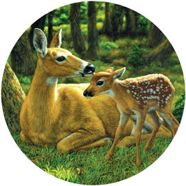First Spring 300 Large Piece Round Jigsaw Puzzle