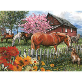 Chatting With The Neighbors 300 Large Piece Jigsaw Puzzle
