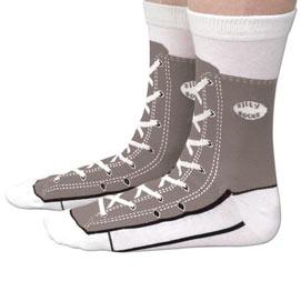 Grey Sneaker Socks
