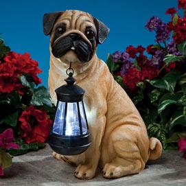 Dog Solar Lantern- Pug