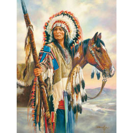 The Last Chief 300 Large Piece Native American Puzzle