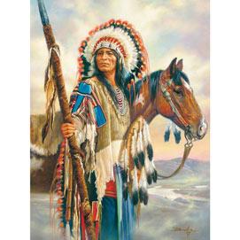 The Last Chief 500 Piece Native American Puzzle