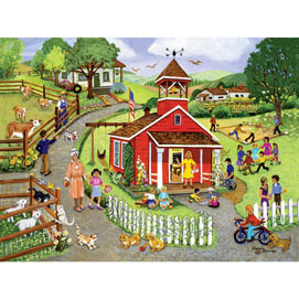 Country Schoolhouse 500 Piece Jigsaw Puzzle