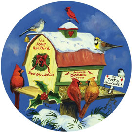 Birdtown USA 300 Large Piece Round Jigsaw Puzzle