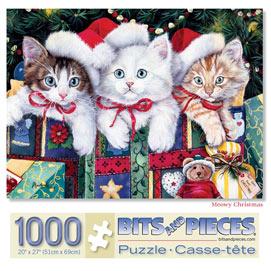 Meowy Christmas 1000 Piece Jigsaw Puzzle