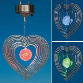 Hanging Heart Solar Spinner