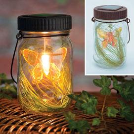 Solar LED Butterfly Jar