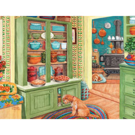 Keeping The Pies Safe 300 Large Piece Jigsaw Puzzle