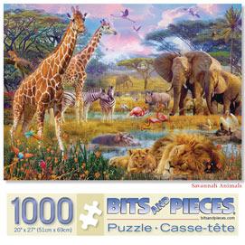 Savannah Animals 1000 Piece Jigsaw Puzzle