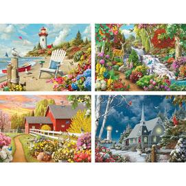 Set of 4: Alan Giana 500 Piece Jigsaw Puzzle