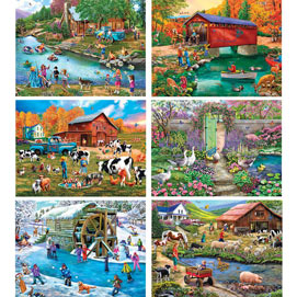 Set of 6: Mary Thompson 500 Piece Jigsaw Puzzles