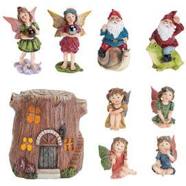 Set of 4: Woodland Fairy Village