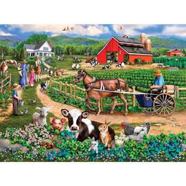 Family Farm 300 Large Piece Jigsaw Puzzle