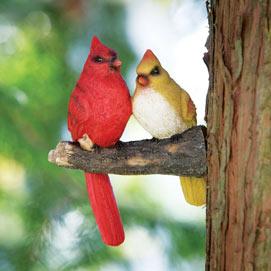 Cardinal Pair Tree Sculpture