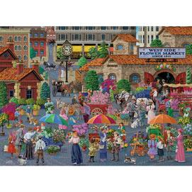 West Side Flower Market 1500 Piece Jigsaw Puzzle