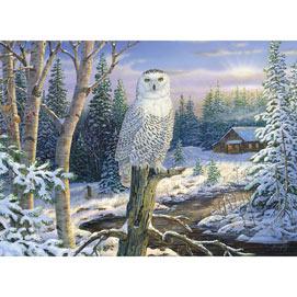 Whispering Ridge Snowy Owl 1500 Piece Giant Jigsaw Puzzle