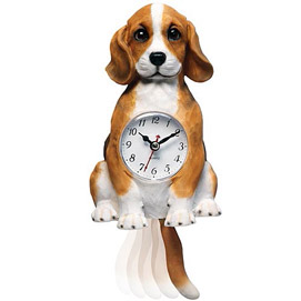 Moving Dog Clock