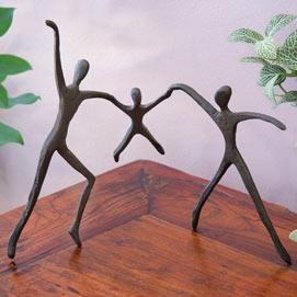Bronze Family Statue