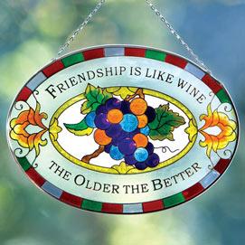 Wine & Friendship Suncatcher
