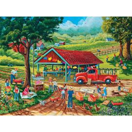 Farmer's Market 300 Large Piece Jigsaw Puzzle