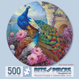 Marvelous Garden 500 Piece Round Jigsaw Puzzle