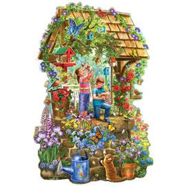 Wishing Well 300 Large Piece Shaped Jigsaw Puzzle
