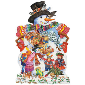Snowy Friends 300 Large Piece Shaped Jigsaw Puzzle