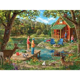 Weekend Cabin 500 Piece Jigsaw Puzzle