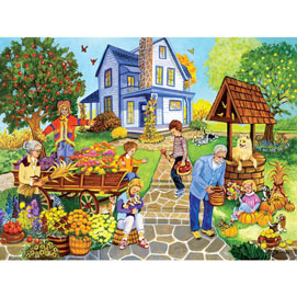 Decorating For Fall 500 Piece Jigsaw Puzzle