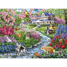 Spring Gardens 300 Large Piece Jigsaw Puzzle