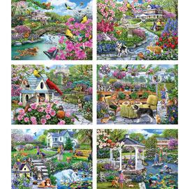 Set of 6: Mary Thompson 300 Large Piece Jigsaw Puzzles