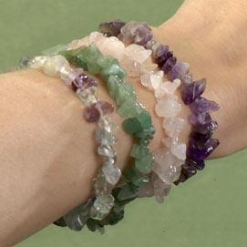 Four Gemstone Bracelets Set
