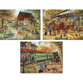 Set of 3: Ruane Manning 300 Large Piece Jigsaw Puzzles