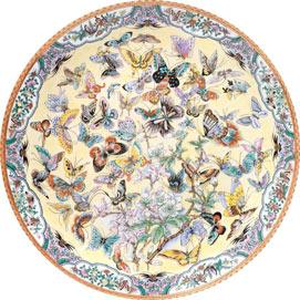 99 Butterflies 1000 Piece Round Jigsaw Puzzle