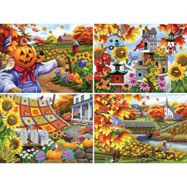 Set of 4: Nancy Wernersbach 1000 Piece Jigsaw Puzzle