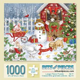 Christmas Farm Animals 1000 Piece Jigsaw Puzzle