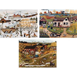 Fun In The Country 3-In-1 Puzzle Set