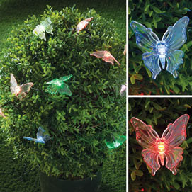 Solar Butterflies With Cascading LED Lights