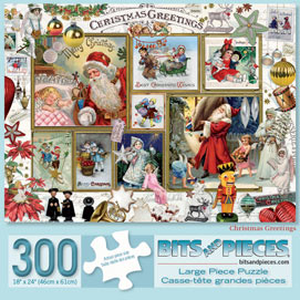Christmas Greetings 300 Large Piece Jigsaw Puzzle