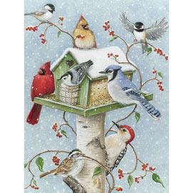 Winter Birds 300 Large Piece Jigsaw Puzzle