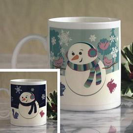 Happy Snowman Colour Changing Mug