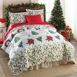 Merry Christmas Quilt Set