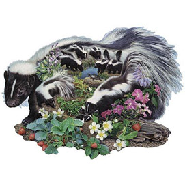 Wandering From The Den Skunk 300 Large Piece Shaped Jigsaw Puzzle