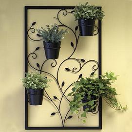 Swirling Vine Wall Art Planter