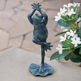 Frog Tree Pose Sculpture