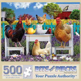 A Brood For Luncheon 500 Piece Jigsaw Puzzle
