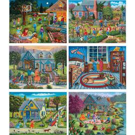 Set of 6: Christine Carey 500 Piece Jigsaw Puzzles