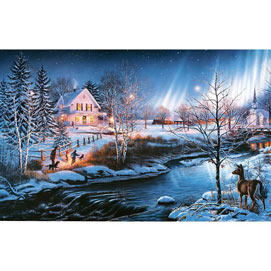 All Is Bright 300 Large Piece Glow-In-The Dark Jigsaw Puzzle